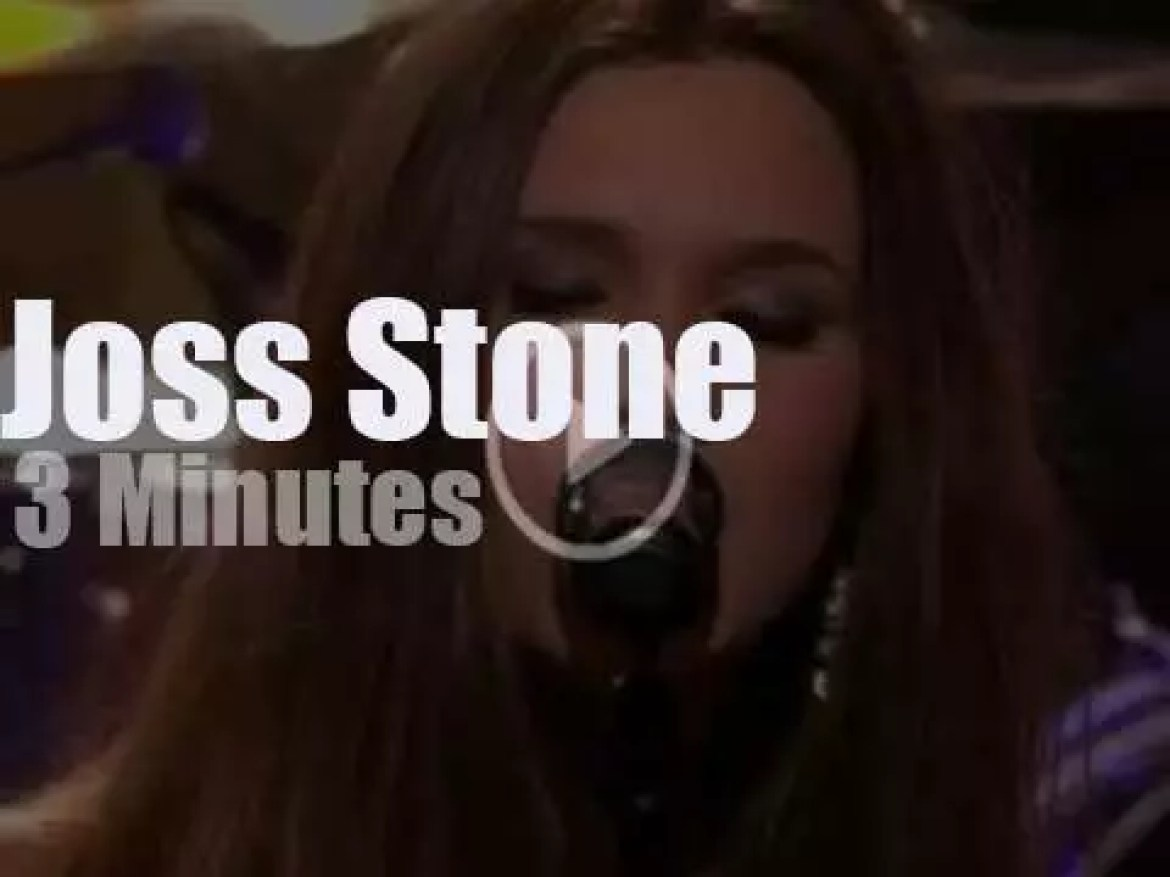 On TV today, Joss Stone & Dave Stewart with Jay Leno (2011)