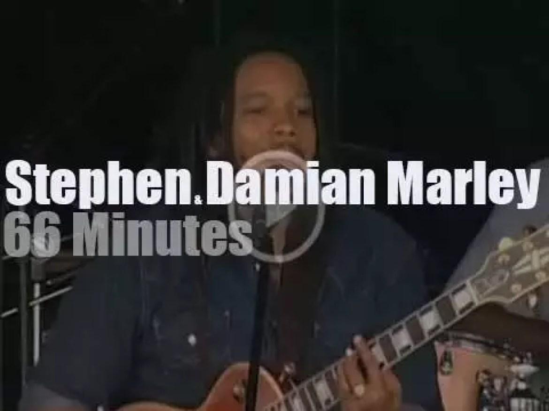 Stephen & Damian Marley celebrate their dad in Newport (2008)