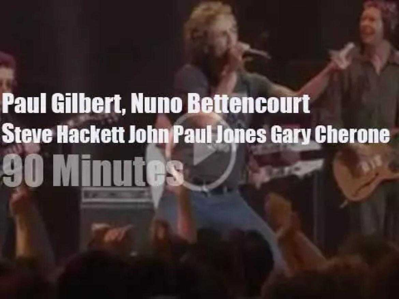 Paul Gilbert, Nuno Bettencourt, Steve Hackett and John Paul Jones meet in Tokyo (2003)