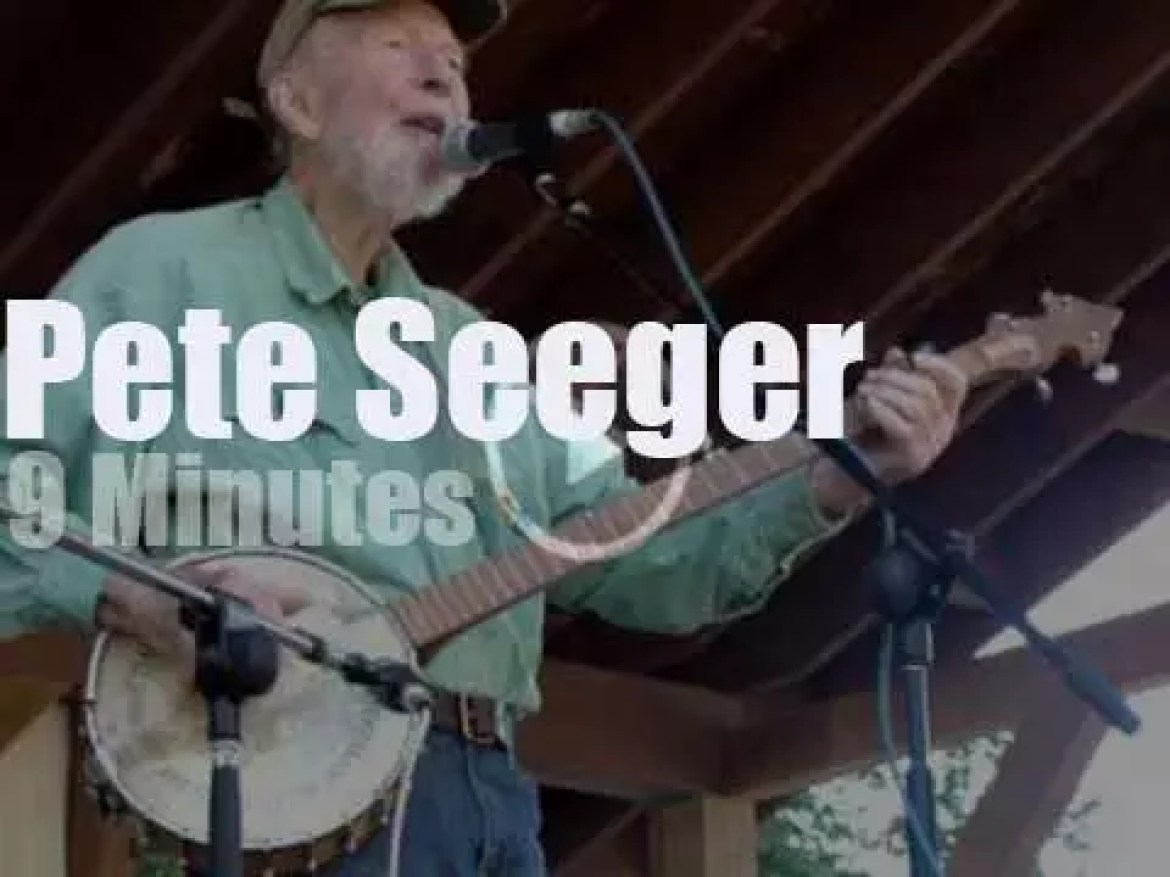 Pete Seeger, one more militant concert in Central Park (2013)