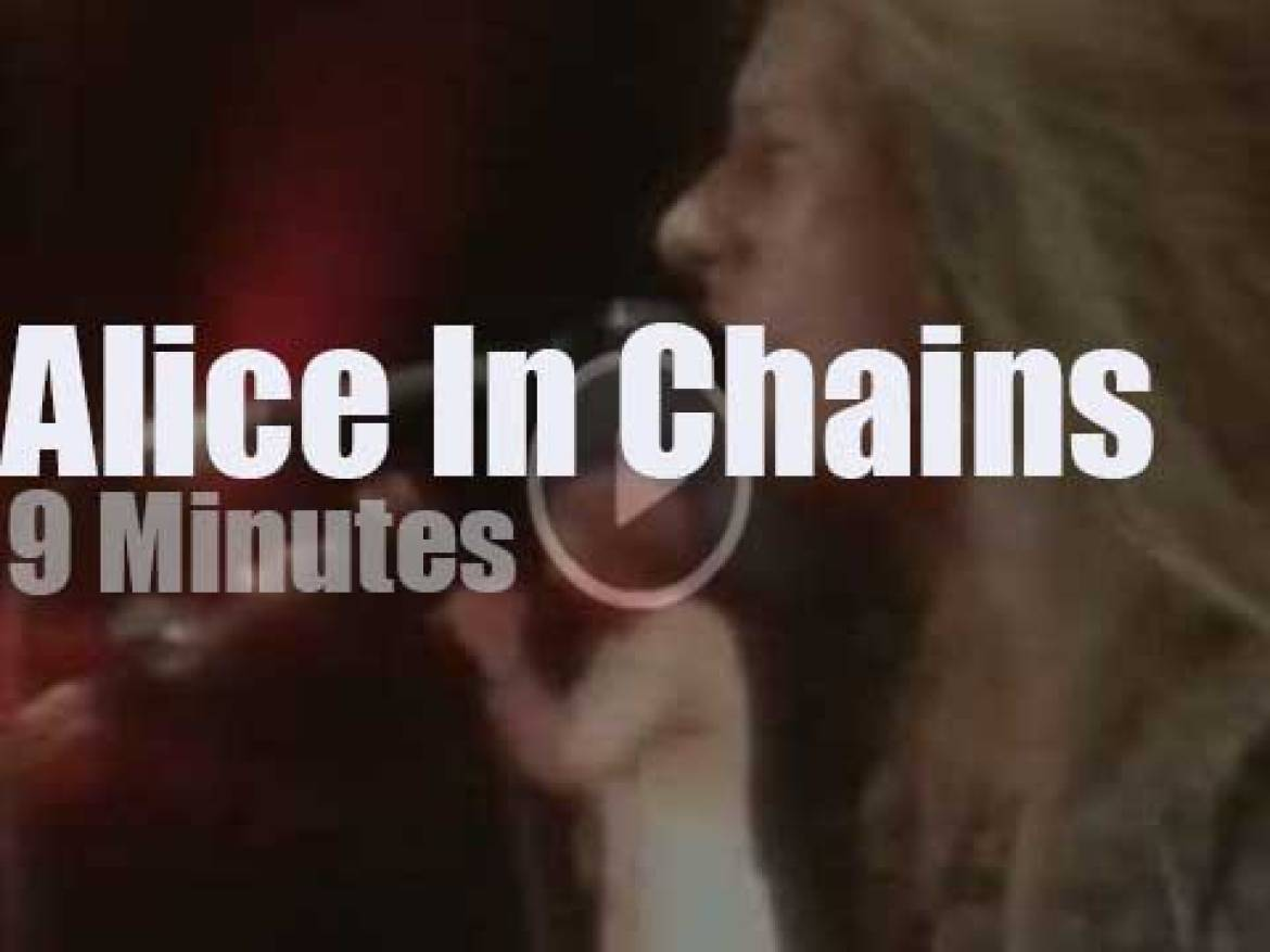 On TV today, Alice in chains at 'Singles Movie Premiere Party' (1992)