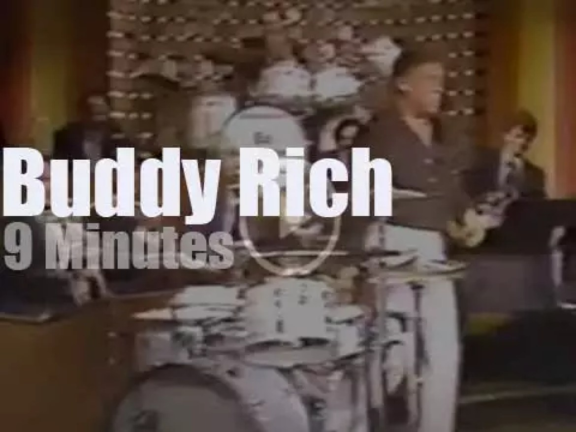 On TV today, Buddy Rich with Johnny Carson (1979)