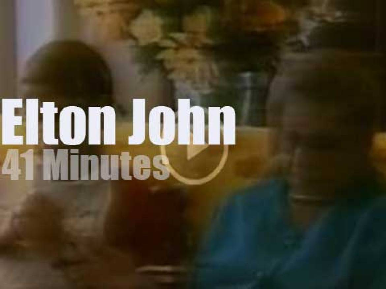 On TV today, Elton John with Oprah Winfrey (1997)
