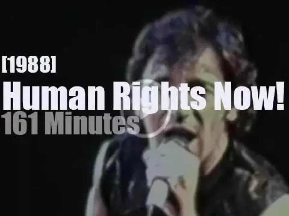 Tracy, Bruce and Sting defend human rights in Toronto (1988)