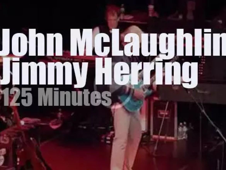 John McLaughlin meets Jimmy Herring in NYC (2017)