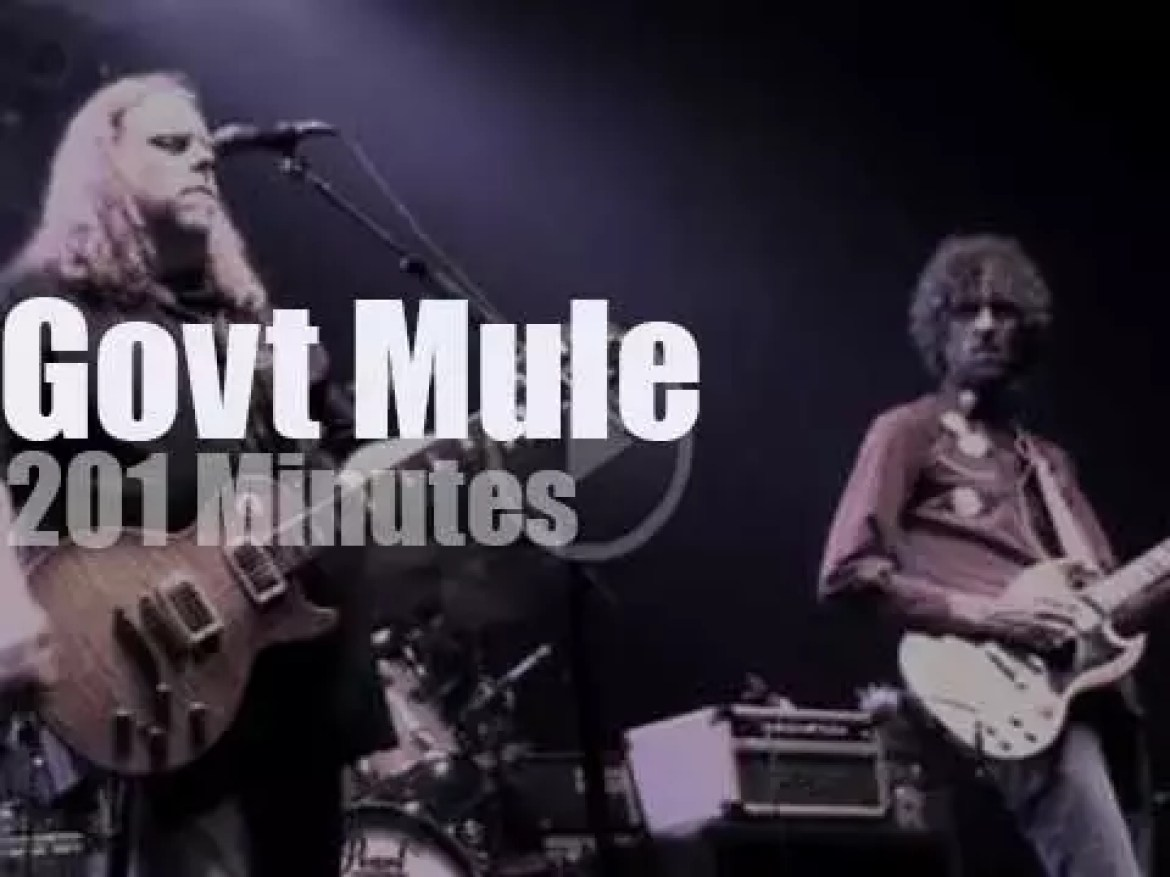 Govt Mule pay tribute to Allen Woody (2010)