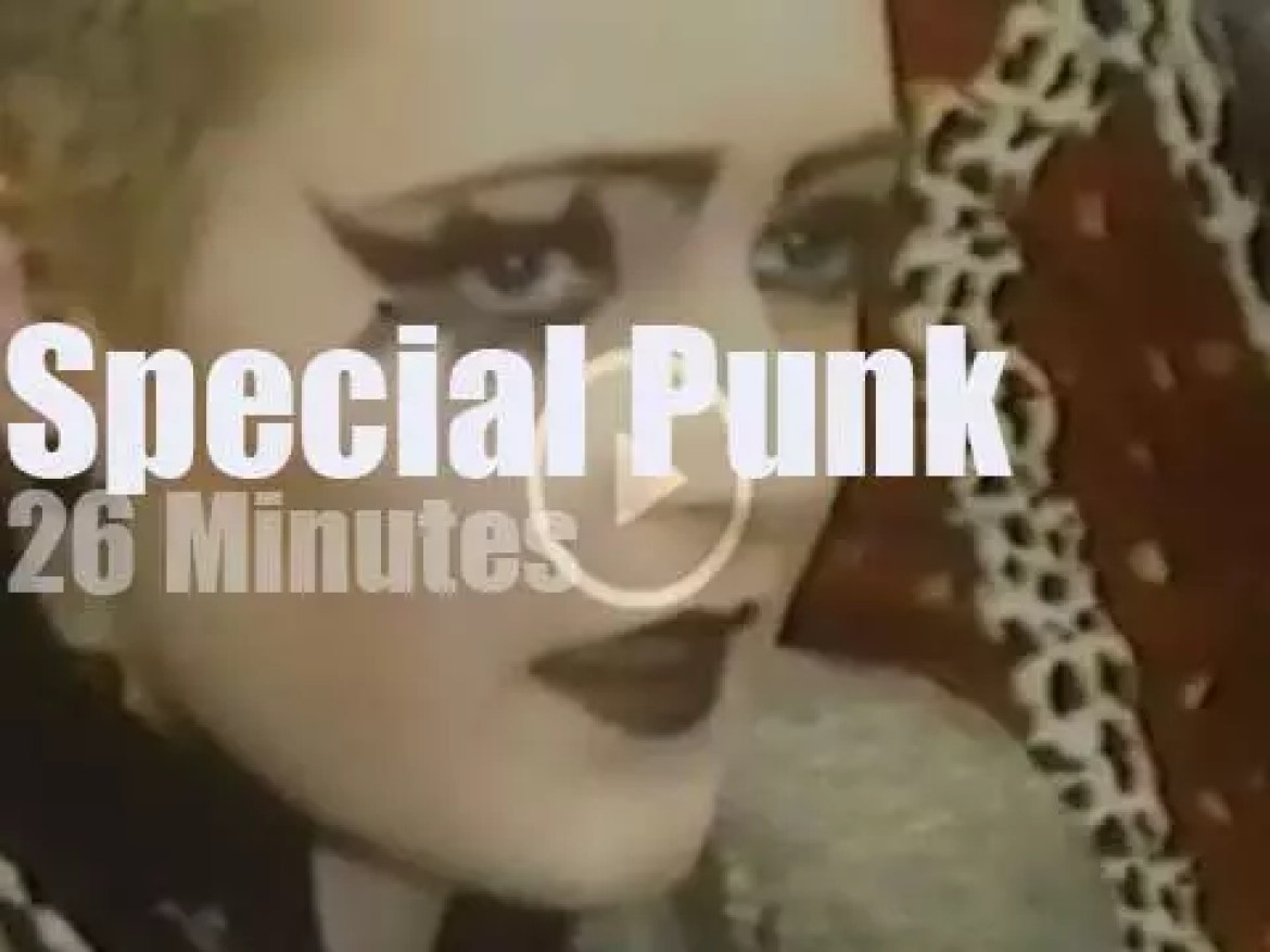 On English TV, Punk Rock at 'London Weekend Show' (1976)