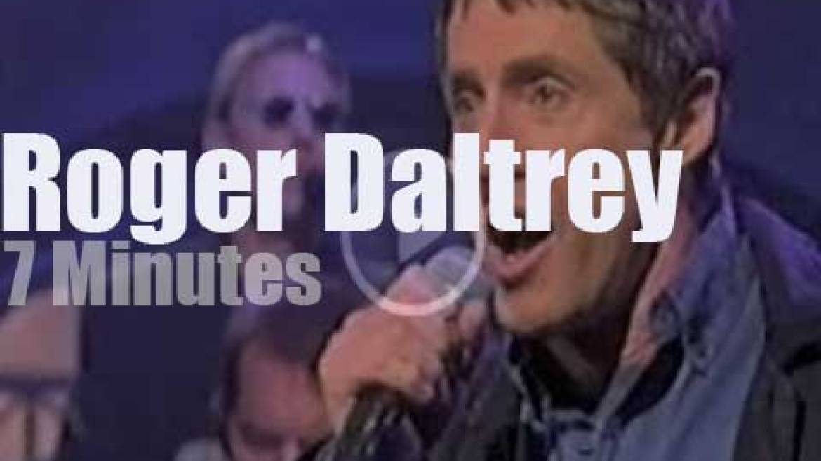 On TV today, Roger Daltrey, with David Letterman (1998)