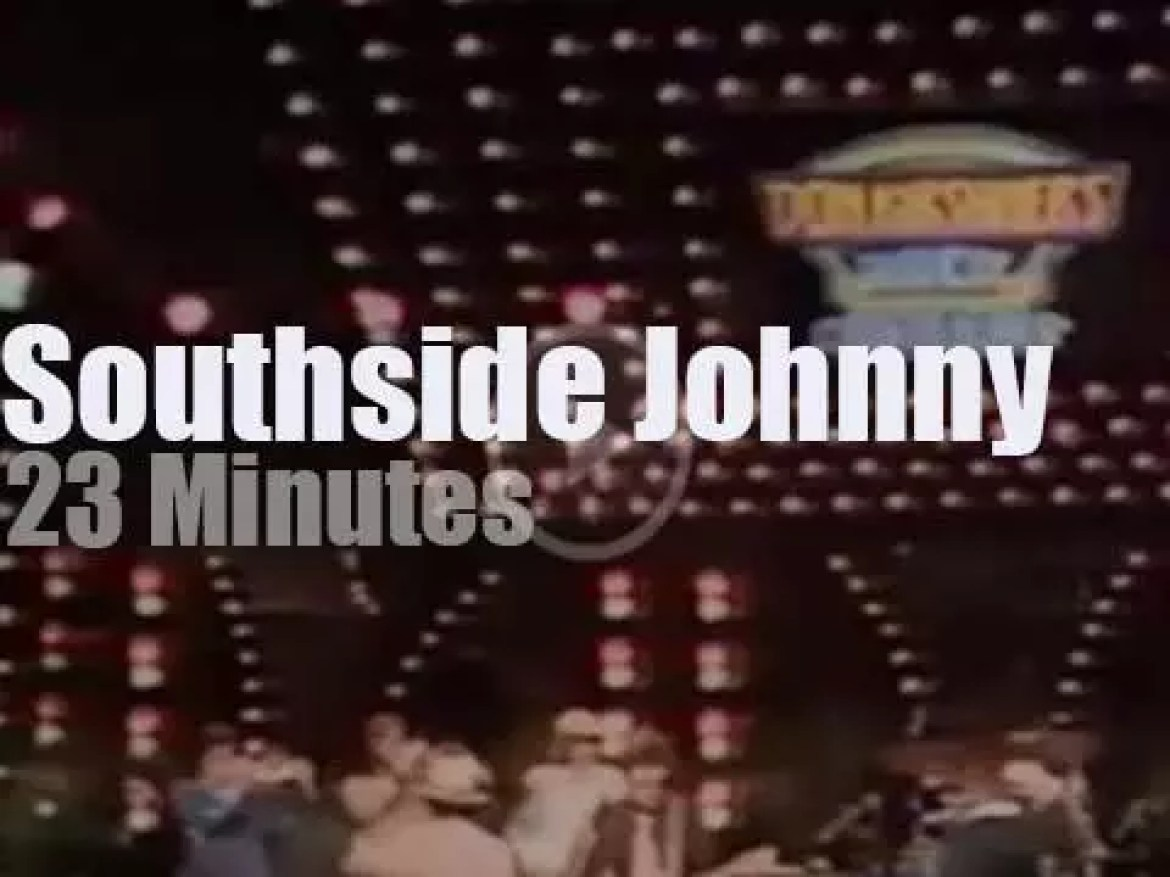On TV today, Southside Johnny & The Asbury Jukes at DKRC (1977)