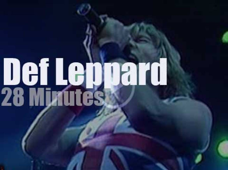 Def Leppard attend a German Festival (1983)