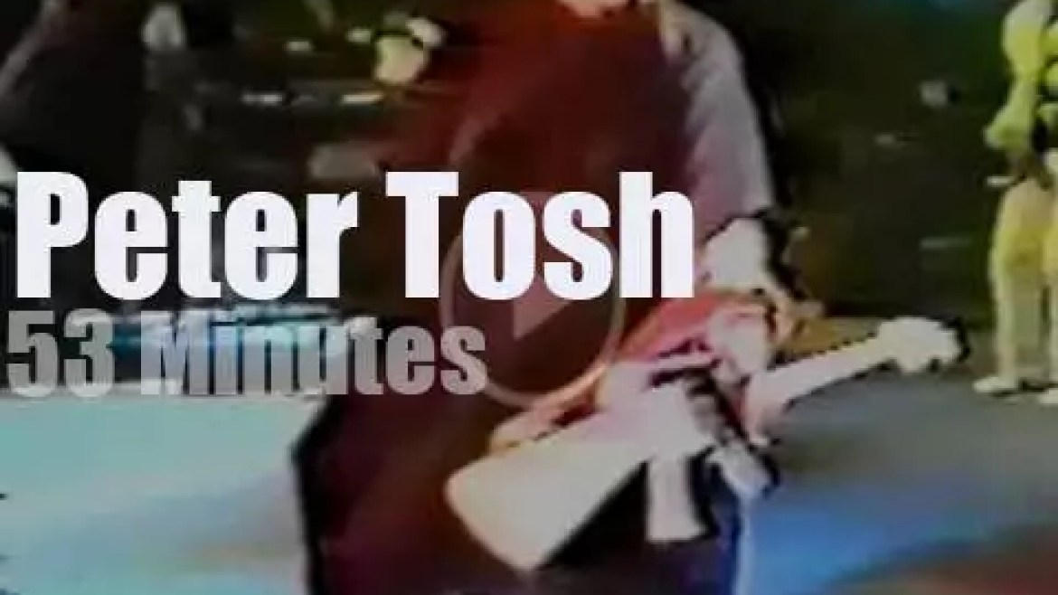 Peter Tosh perfoms (one last time?) (1983)