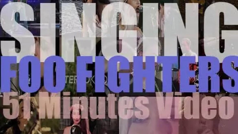 Singing  Foo Fighters