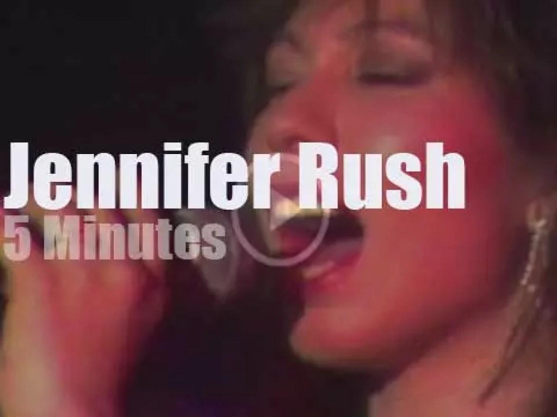 On German TV today, Jennifer Rush at 'Rock Pop Music Hall' (1985)