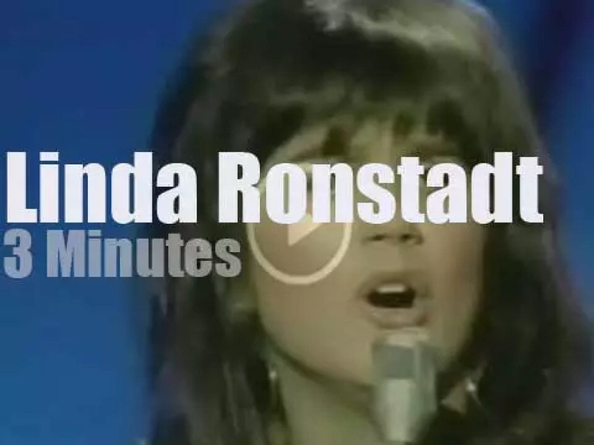On TV today, Linda Ronstadt at the 'Johnny Cash Show' (1970)