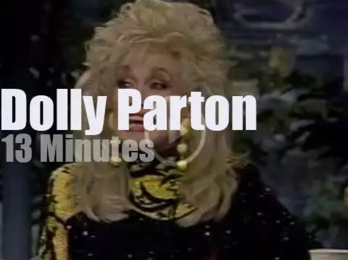 On TV today, Dolly Parton with Johnny Carson (1992)