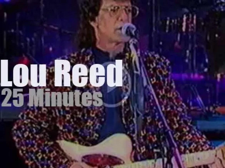 Lou Reed celebrates Italian Labor day in Rome (1994)