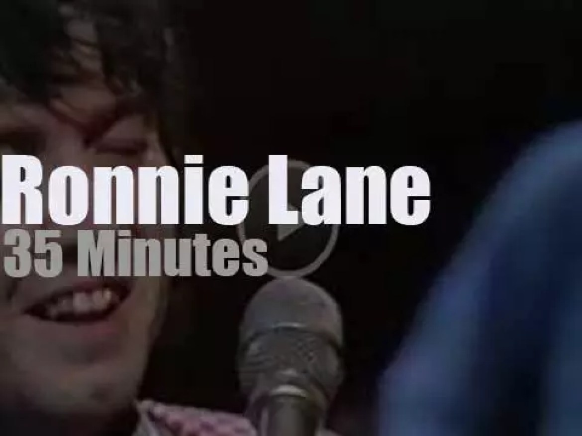 On British TV, Ronnie Lane & Slim Chance at 'In Concert' (1974)