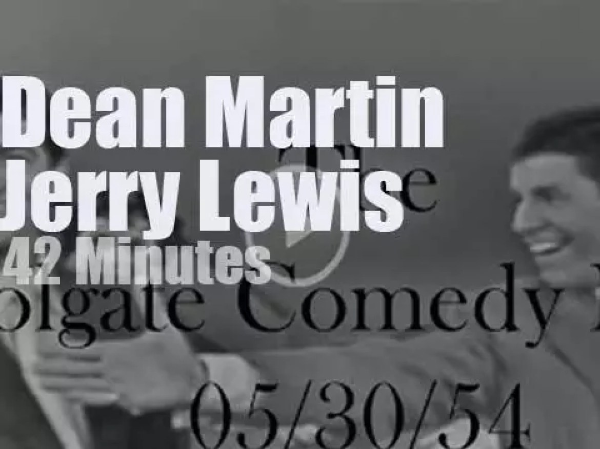 On TV today, Dean Martin & Jerry Lewis at 'The Comedy Hour' (1954)