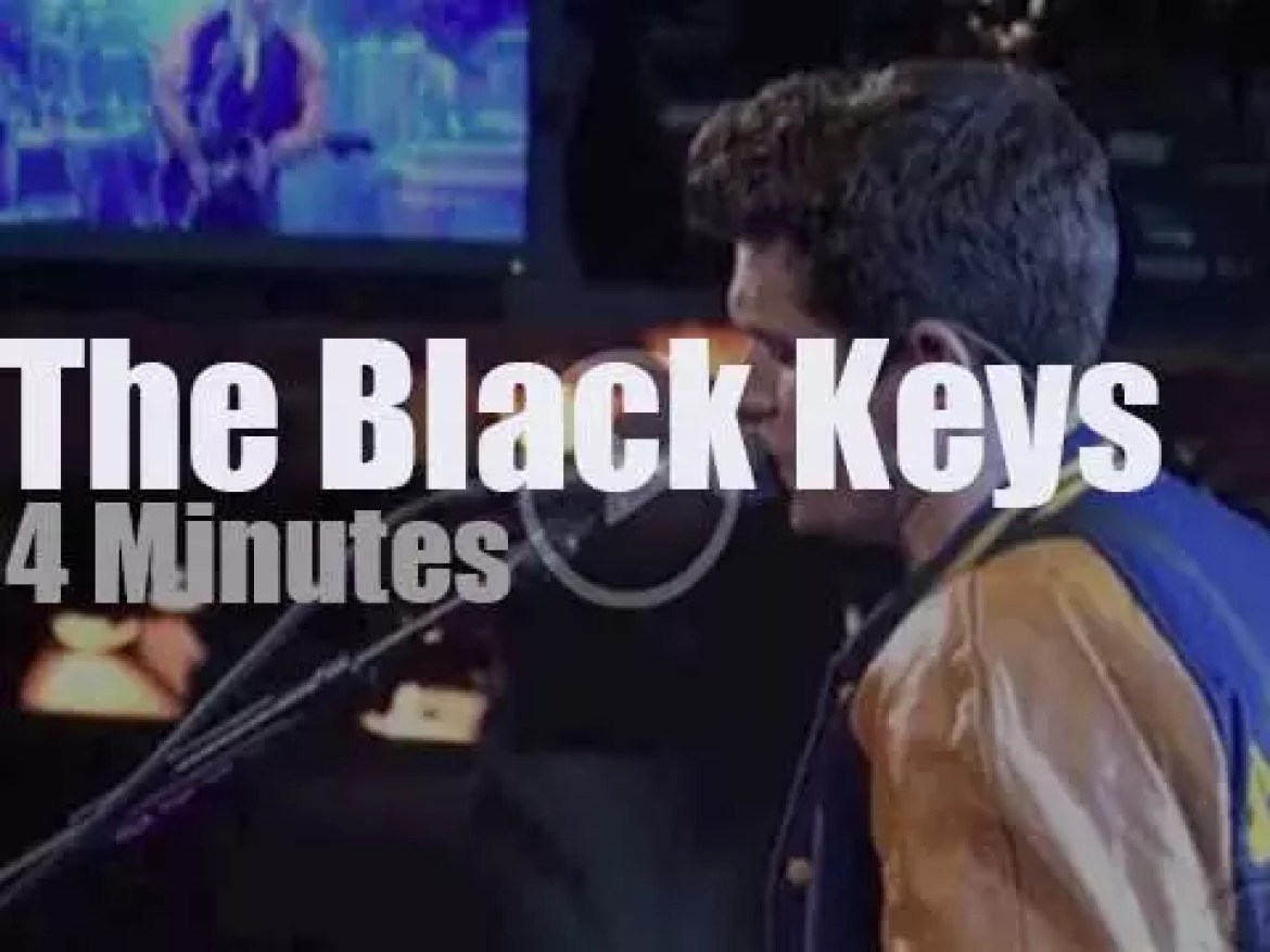 On TV today, The Black Keys  with David Letterman (2010)
