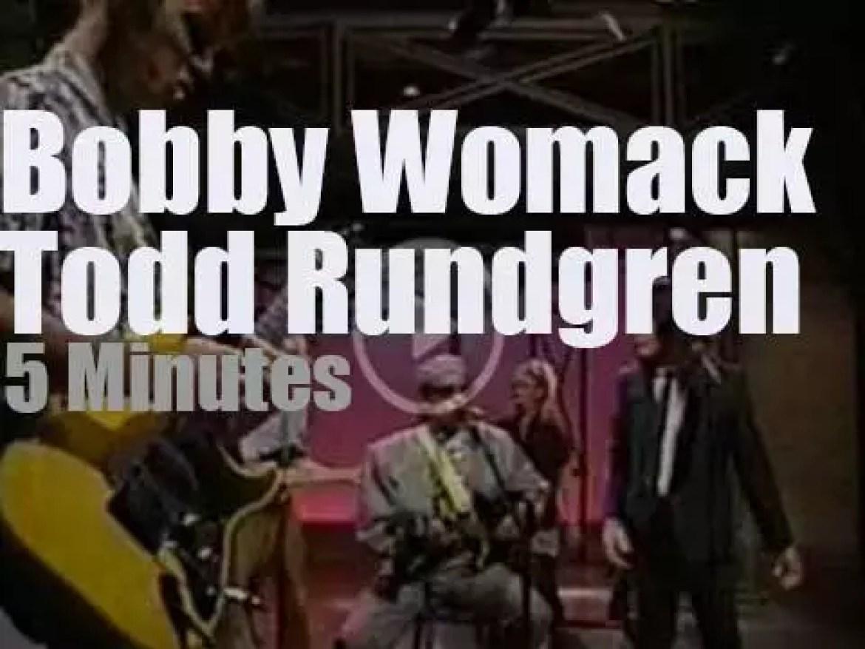 On TV today, Todd Rundgren meets Bobby Womack (1989)