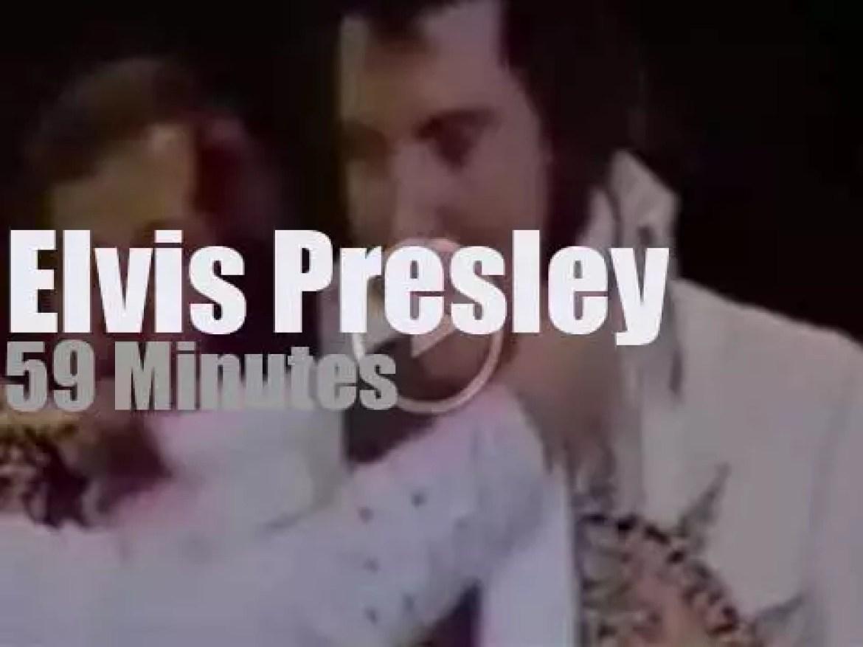 Elvis Presley performs (one last time?)  in Rapid City (1977)