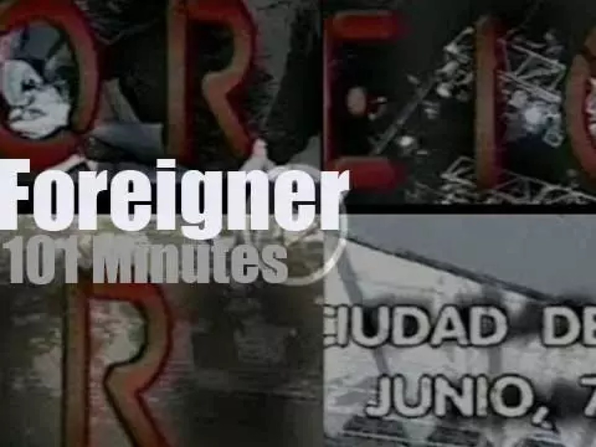 Foreigner visit Mexico City (1995)