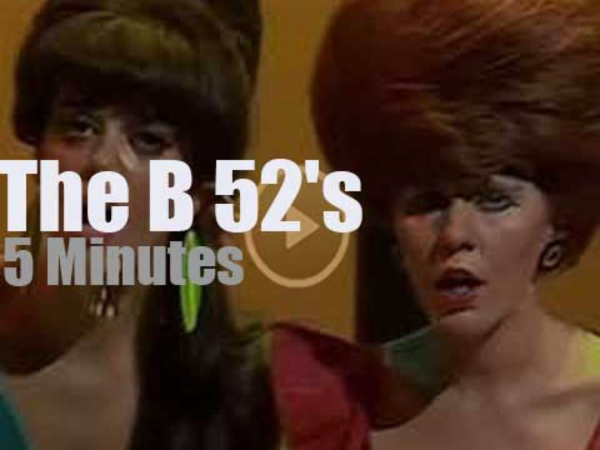 On Australian TV today, The B 52's at 'Countdown' (1980)