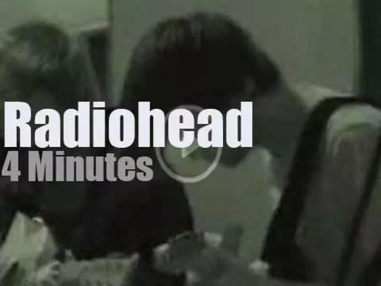 On radio today, Radiohead at KCRW (2003)