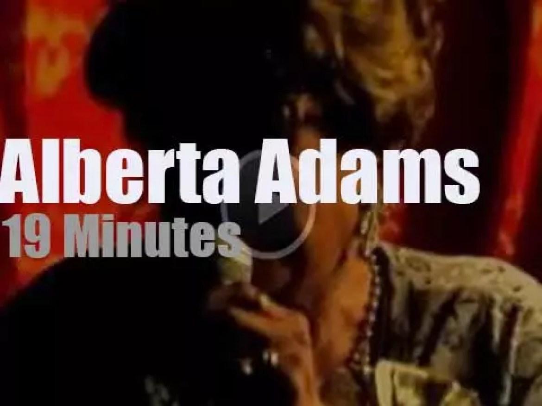 Alberta Adams 97 is still singing the blues (2014)