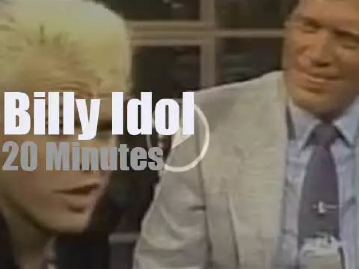 On TV today, Billy Idol with Letterman (1984)