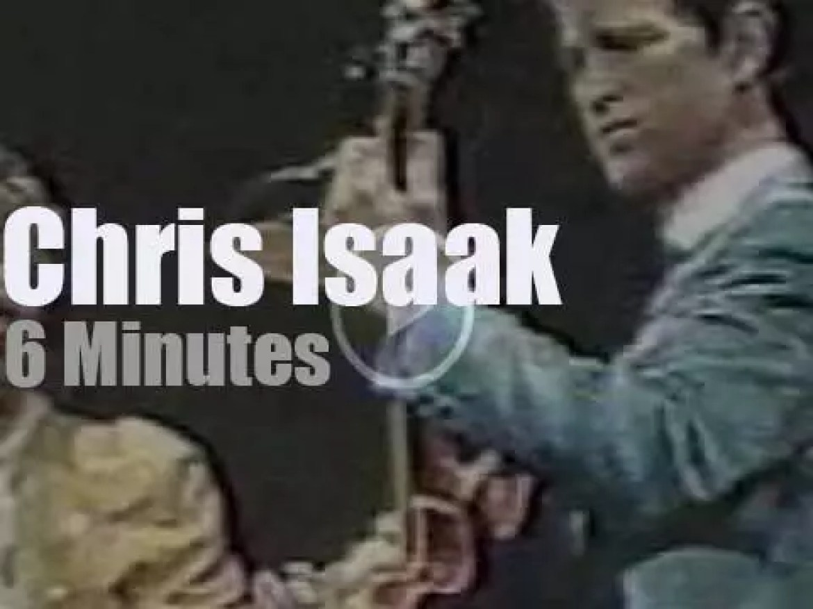 On TV today, Chris Isaak with David Letterman (1987)