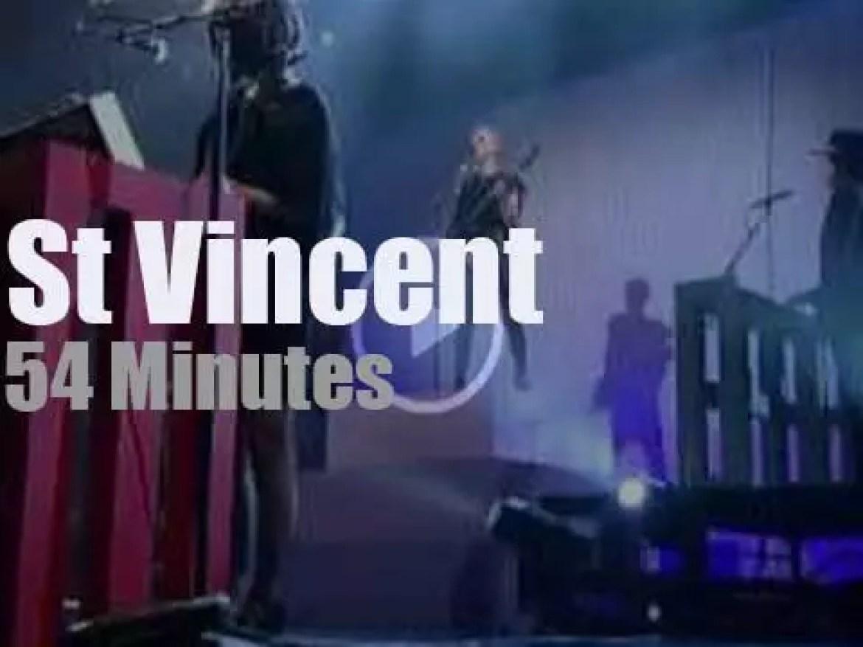 On webcast today, St. Vincent at 'Live on Letterman' (2014)