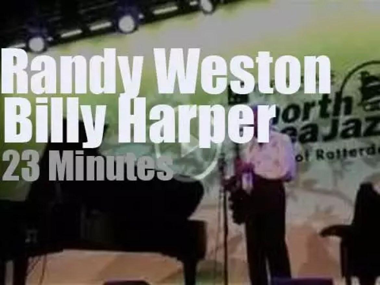 Randy Weston and Billy Harper duet at North Sea Jazz (2015)