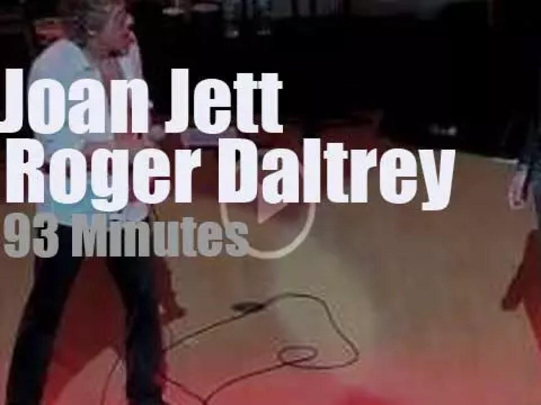 Roger Daltrey meets Joan Jett in Philadelphia (2014)