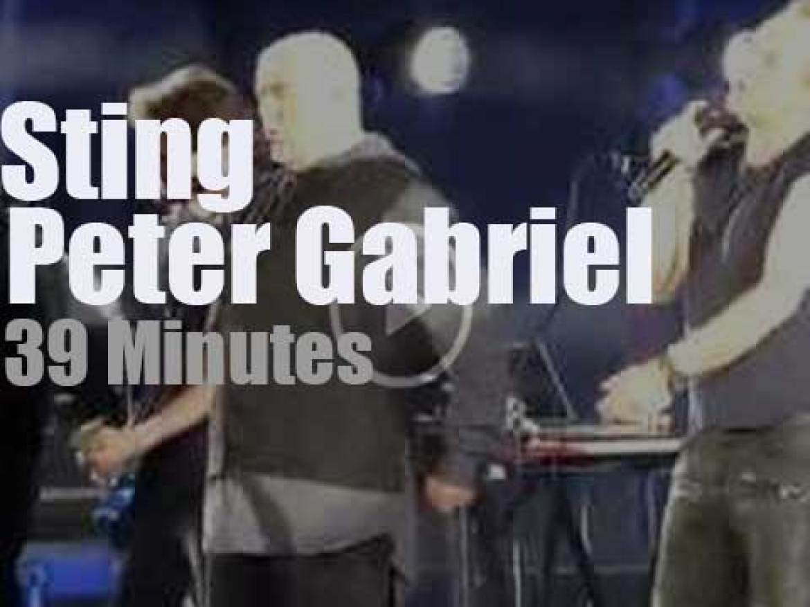 Sting & Peter Gabriel join forces in Hollywood (2016)