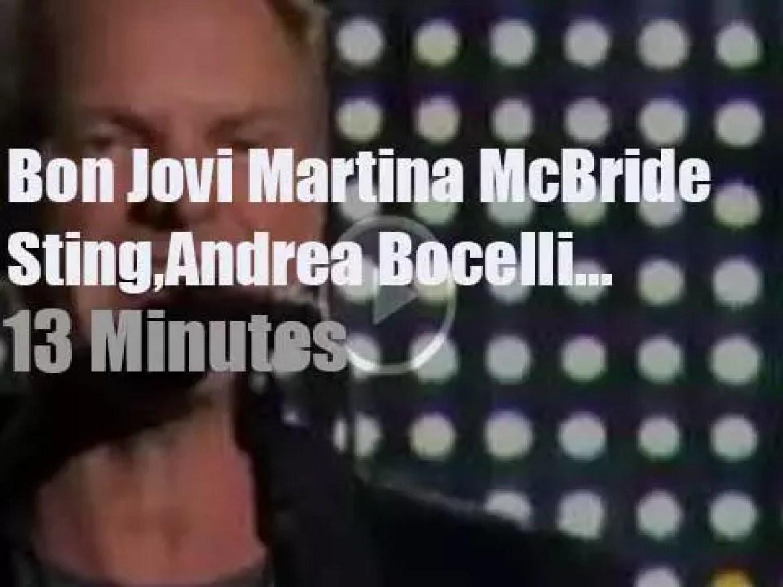 On TV today, Sting, Jon, Andrea et al sing for America's Kids (2006)