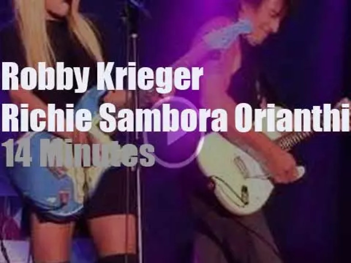 Robby Krieger sits in with Richie Sambora and Orianthi (2017)