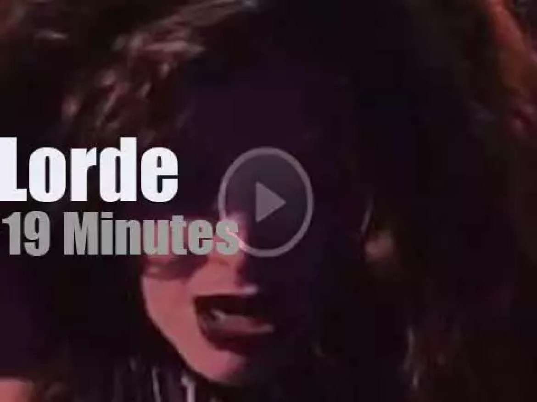 Lorde attends 'iHeartRadio Music Festival' (2014)