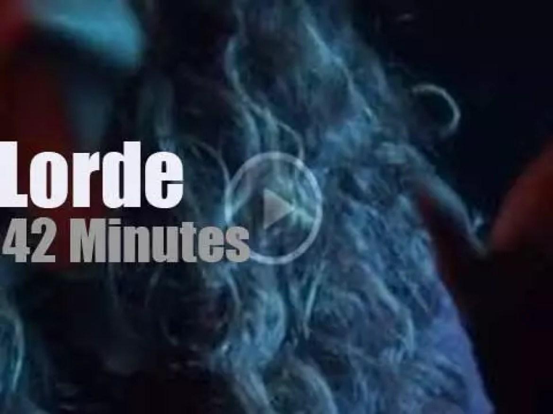 Lorde debuts in London (2013)
