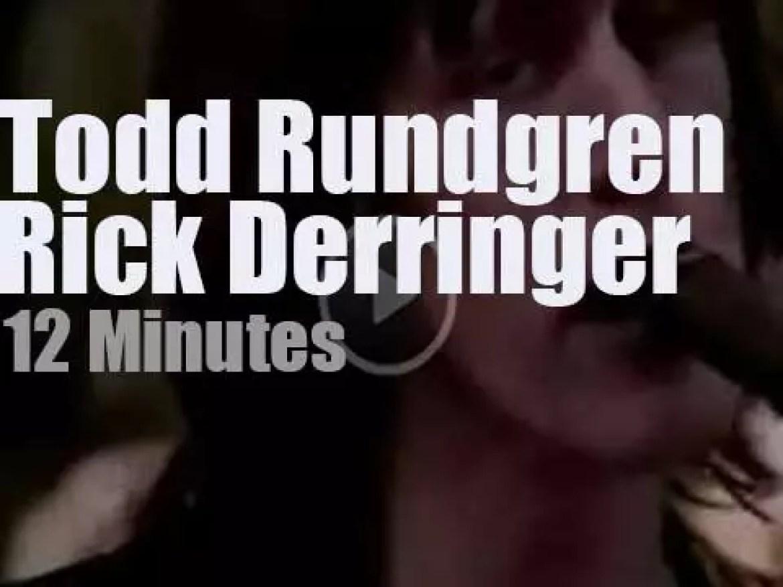 Todd Rundgren sits in with Rick Derringer (1980)