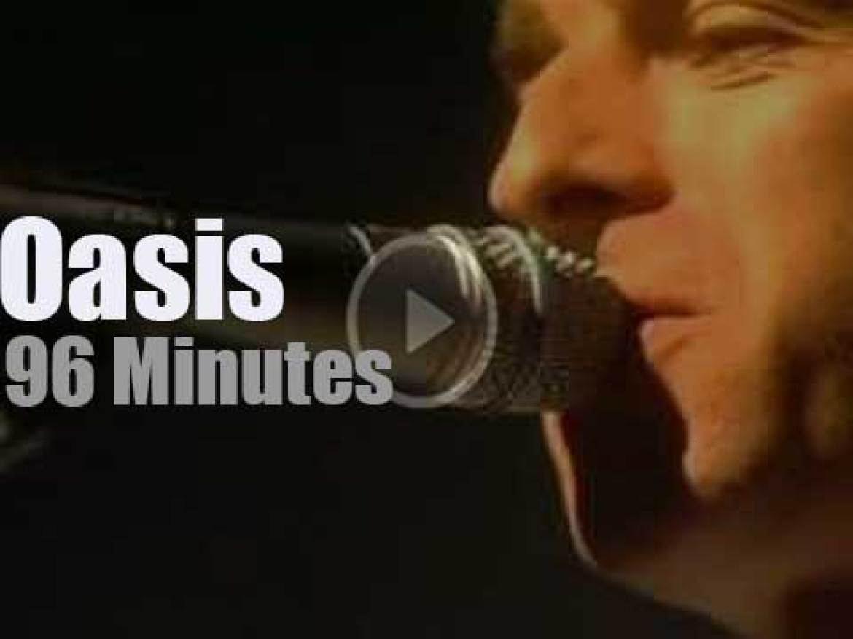 Oasis visit Glasgow (2001)