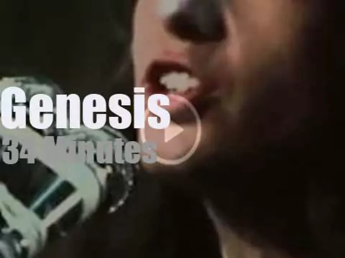 French TV tapes Genesis with Peter Gabriel (1973)