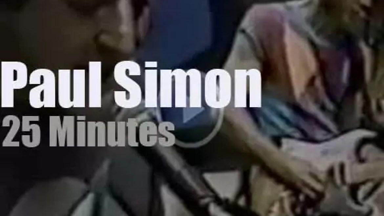 On TV today, Paul Simon on Cinemax (1984)