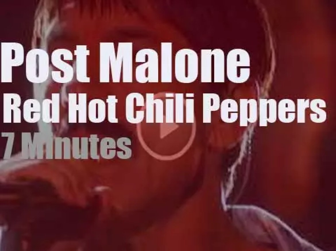 Post Malone sits in with Red Hot Chili Peppers at the Grammys (2019)