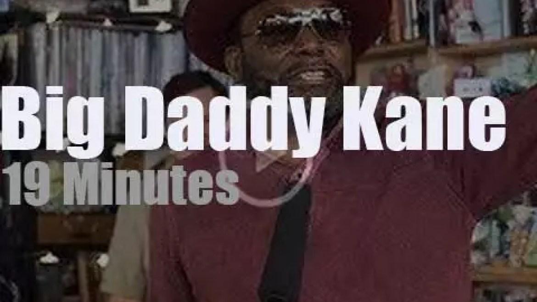 On TV today, Big Daddy Kane at 'NPR Music Tiny Desk'  (2018)