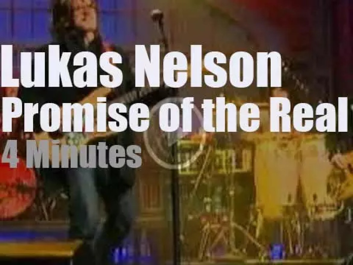On TV today, Lukas Nelson and Promise of the Real with David Letterman (2018)