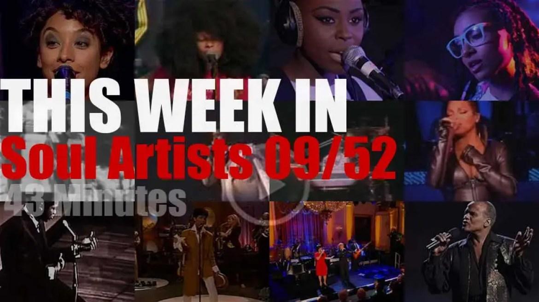This week In Soul Artists 09/52