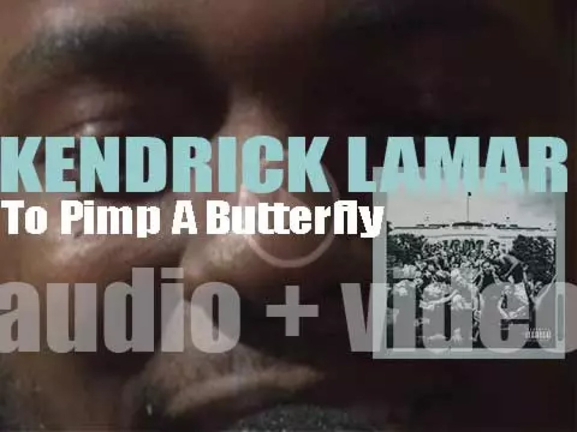 Kendrick Lamar releases his third album 'To Pimp A Butterfly' featuring 'Alright' and 'These Walls' (2015)