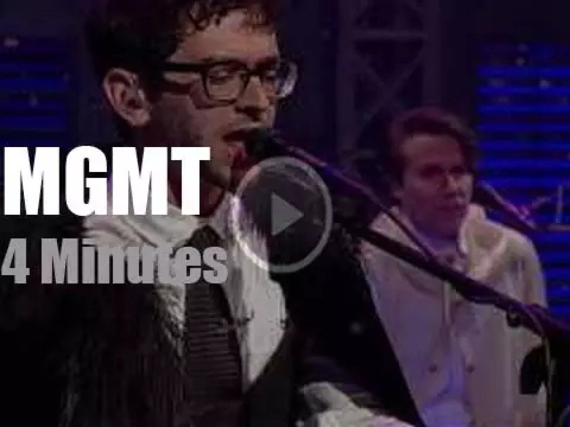 On TV today, MGMT with David Letterman (2011)