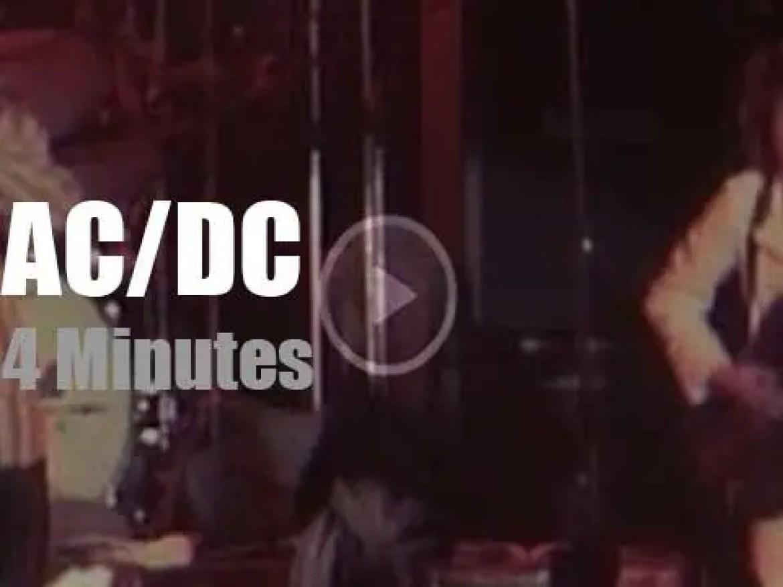 AC/DC rock Melbourne (1975)